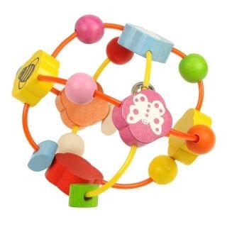 Bigjigs Edukačná hračka - hrkálka - Elastická gule s korálkami