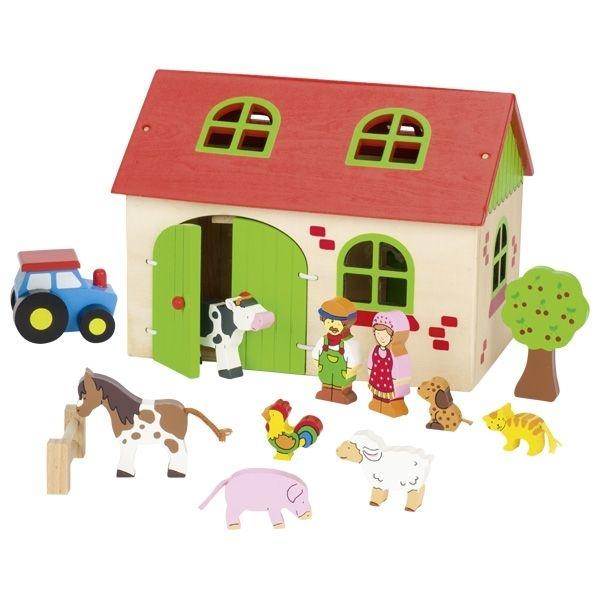 Goki Drevená edukačná hračka Moja farma