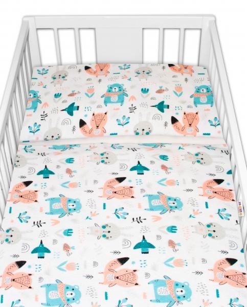 Baby Nellys flanelové obliečky 120x90 - Forest girl