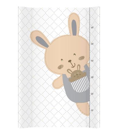 Albero Mio Prebaľovacia podložka - tvrdá - na postieľku 120x60 cm - Veselý králiček