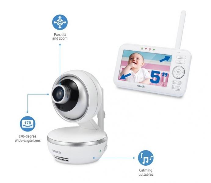 """VTECH VM5261 Moderná detská video pestúnka s displejom 5 """""""
