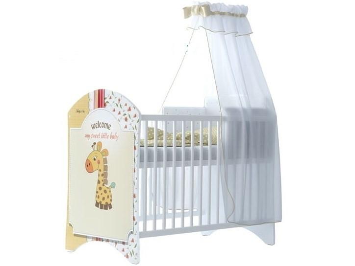 BabyBoo Detská postieľka LUX s motivom Sweet giraffe, 120 x 60 cm