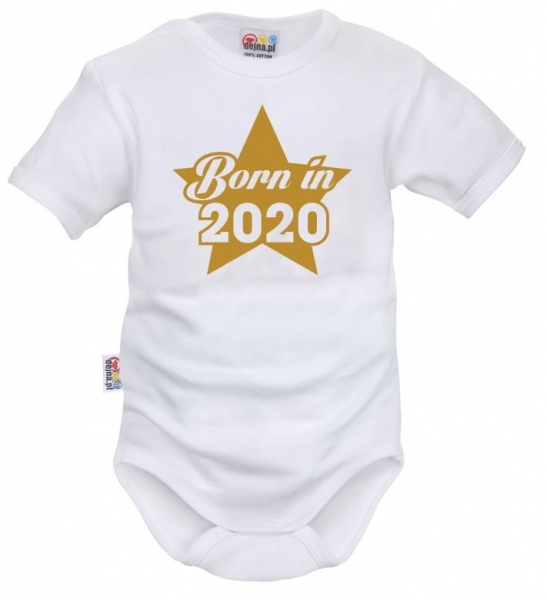DEJNA Body krátký rukáv Born in 2020 - biele, veľ. 62