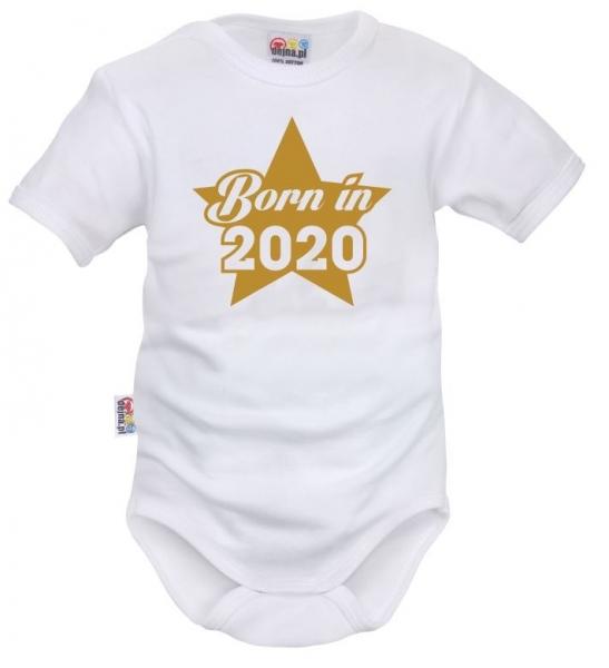 DEJNA Body krátký rukáv Born in 2020 - biele, veľ. 74