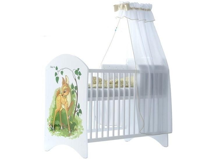BabyBoo Detská postieľka LUX s motivom Bambi, 120x60 cm