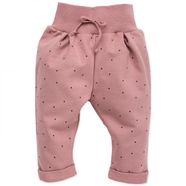 Pinokio Dojčenské tepláčky Petit Lou - púdrovo ružová, veľ. 74