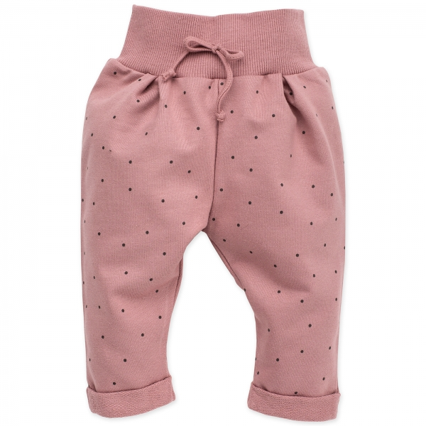 Pinokio Dojčenské tepláčky Petit Lou - púdrovo ružová, veľ. 86
