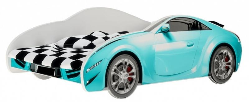 Nellys Detská posteľ Super Car - modrá, 160 x 80 cm