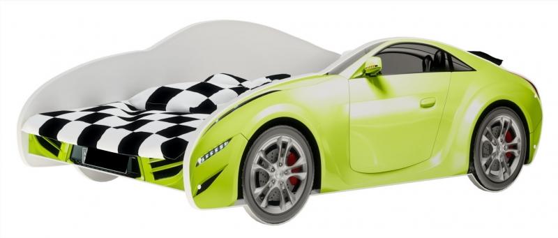 Nellys Detská posteľ Super Car - zelená, 160 x 80 cm