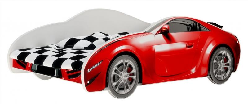 Nellys Detská posteľ Super Car - červená, 160 x 80 cm