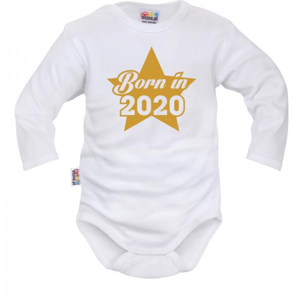 DEJNA Body dlhý rukáv Born in 2020 - biele