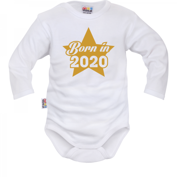 DEJNA Body dlhý rukáv Born in 2020 - biele, veľ. 68