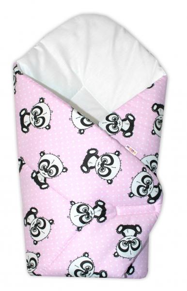Novorodenecká zavinovačka Cute Animals, Baby Nellys - růžový