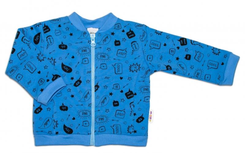 Bavlnená tepláková súprava  - Cool Baby, modrá, vel. 62