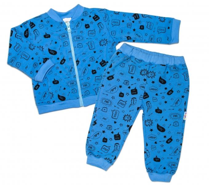 Bavlnená tepláková súprava Baby Nellys ® - Cool Baby, modrá, vel. 86-86 (12-18m)