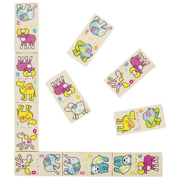 Goki Drevené domino Susibelle - Zvieratká