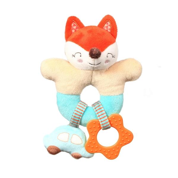 BabyOno Plyšová hrkálka s hryzátkom - Fox Vincent