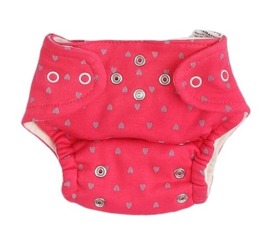 Mamatti Látková plienka EKO sada - nohavičky + 2 x plienka, veľ. 3 - 8 kg, Hearts