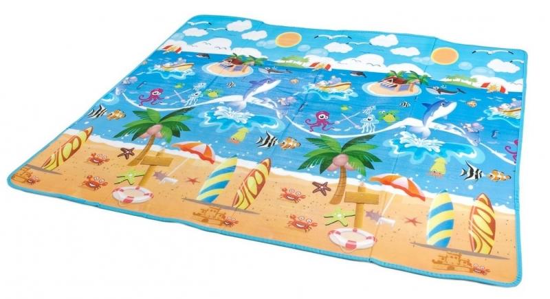 Penová hracia deka 200 x 180 x 0,5 cm - oceán