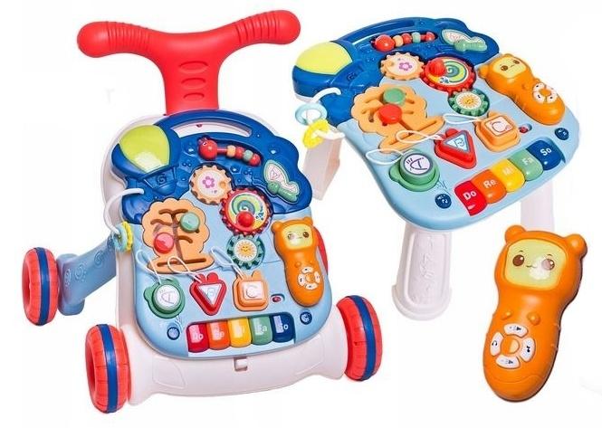 Detské interaktívne chodítko 3 v 1 - granát