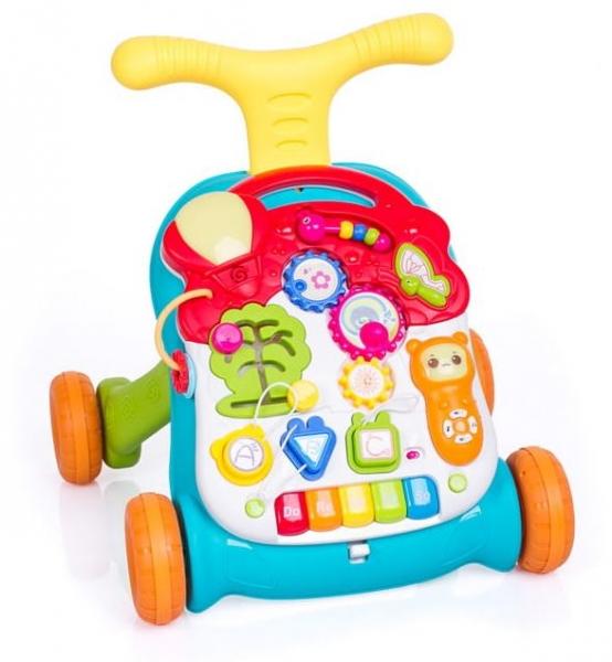Detské interaktívne chodítko 3 v 1 - zelené