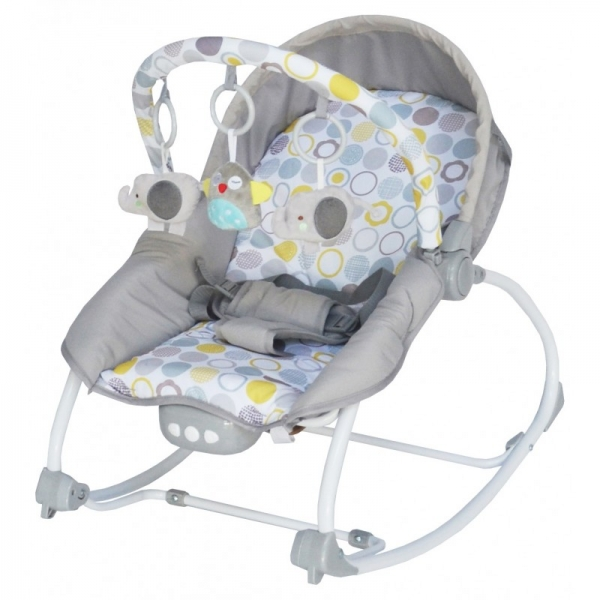 BABY MIX Lehátko pre dojčatá s vibrácií a hudbou - Bubble - sivé