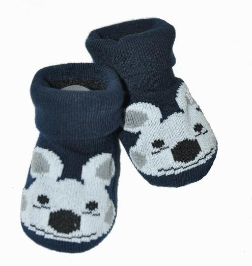 Dojčenské ponožky 12 - 24 m,RISOCKS protišmykové - Psík, čierne