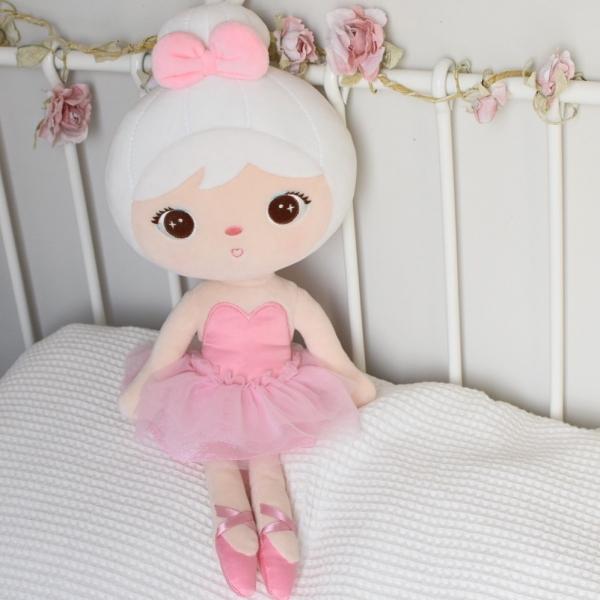 Handrová bábika Metoo Baletka - ružová