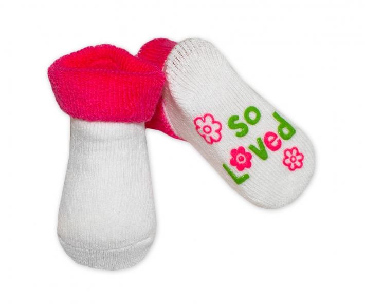 Dojčenské ponožky  0-6 m,RISOCKS rôzne motívy - tm. ružová-0/6 měsíců