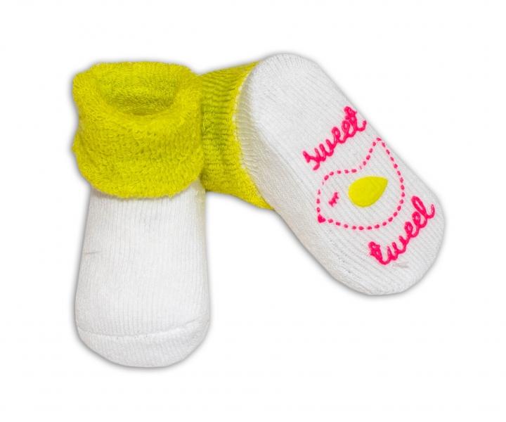 Dojčenské ponožky  0-6 m,RISOCKS rôzne motívy - sv. zelená-0/6 měsíců