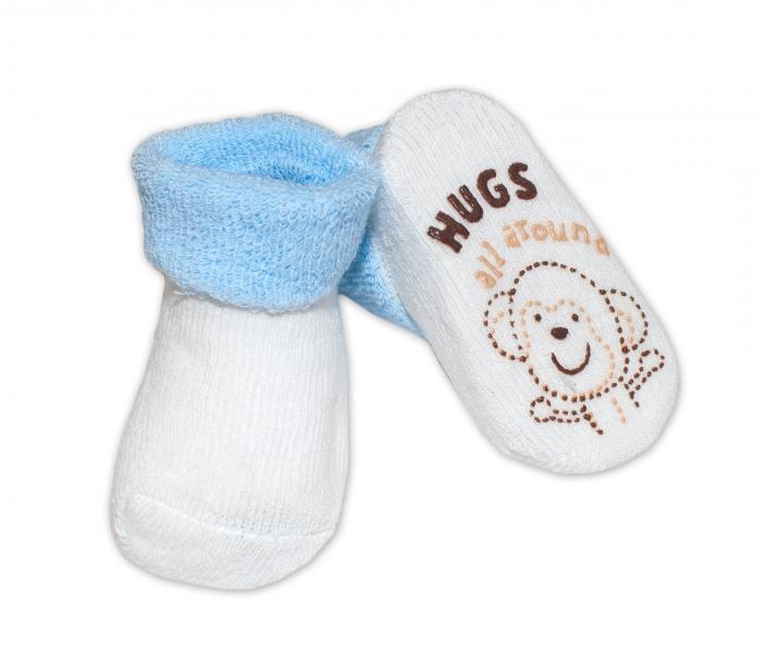 Dojčenské ponožky  0-6 m,RISOCKS rôzne motívy - sv. modrá