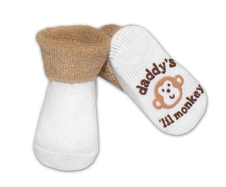 Dojčenské ponožky  0-6 m,RISOCKS rôzne motívy - sv. hnědá