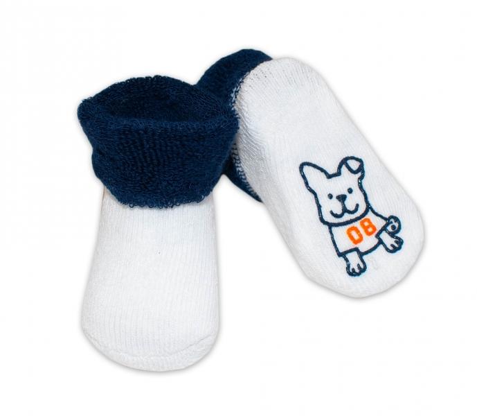 Dojčenské ponožky 0-6 m, RISOCKS rôzne motívy - tm. modrá
