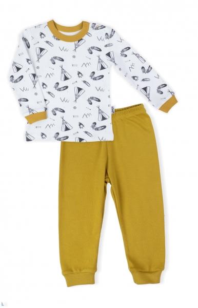 Detské pyžamo Nicol, Indián - bielo/horčicové, veľ. 92