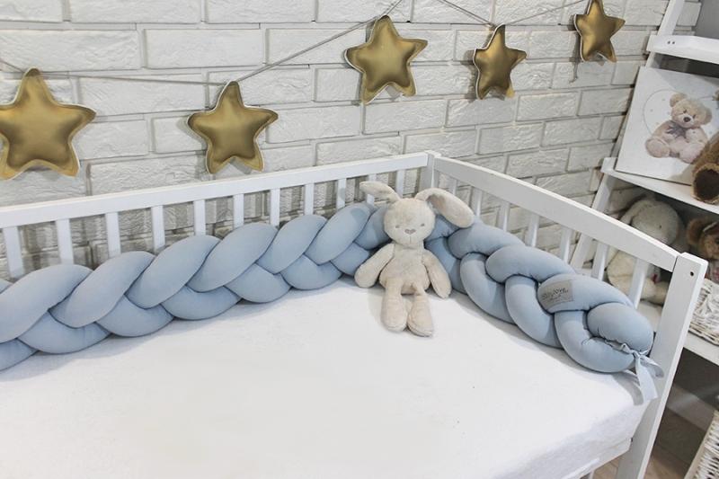 Mantinel Baby Nellys pletený vrkoč - sivá