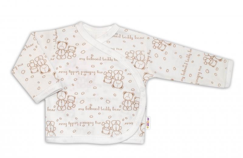 Košieľka pre predčasne nar. deti Baby Teddy, zap. bokom - Medvedíky, veľ. 44