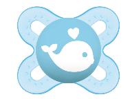Symetrický dudlík Mam Start Boy - Veľryba, modrá
