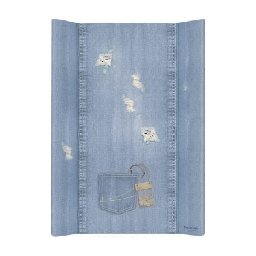 Prebaľovacia podložka Ceba, tvrdá - na postieľku 120x60 cm, Denim Shabby - jeans, 50x70cm