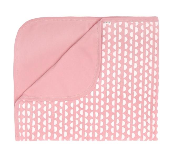 Mamatti Detská bavlněná deka, dečka Hello 80 x 90 cm, korálová, vzor