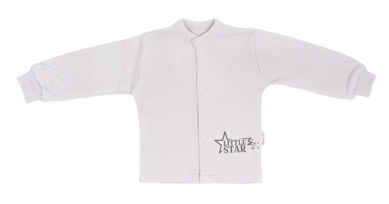 Mamatti Novorodenecká bavlnená košieľka Star - šedá, veľ. 50