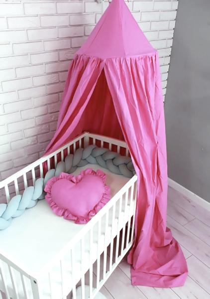 Baby Nellys Nebesá z celej látky - růžová