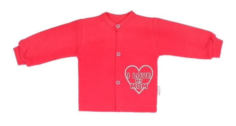 Mamatti Novorodenecká bavlnená košieľka Hearts - červená, veľ. 74