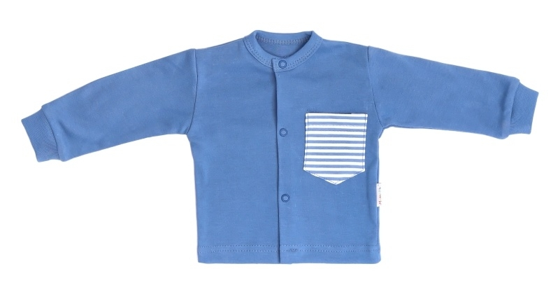 Mamatti Novozenecká bavlnená košieľka World -  modrá, veľ. 56-56 (1-2m)