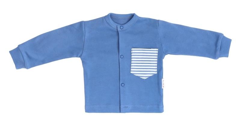 Mamatti Novorodenecká bavlnená košieľka World -  modrá, veľ. 74