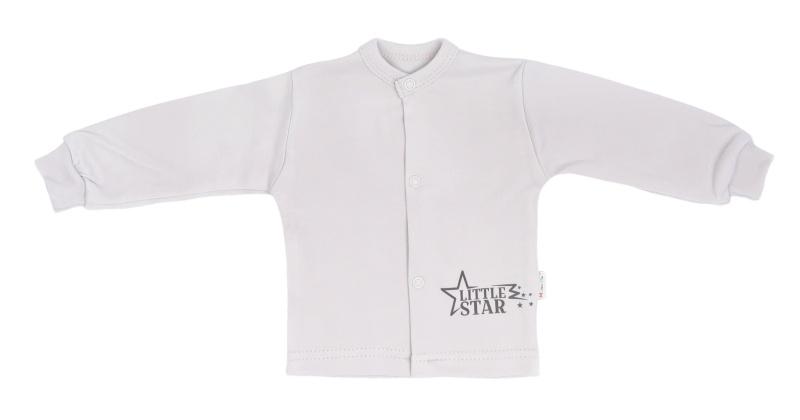 Mamatti Novorodenecká bavlnená košieľka Star - šedá, veľ. 74