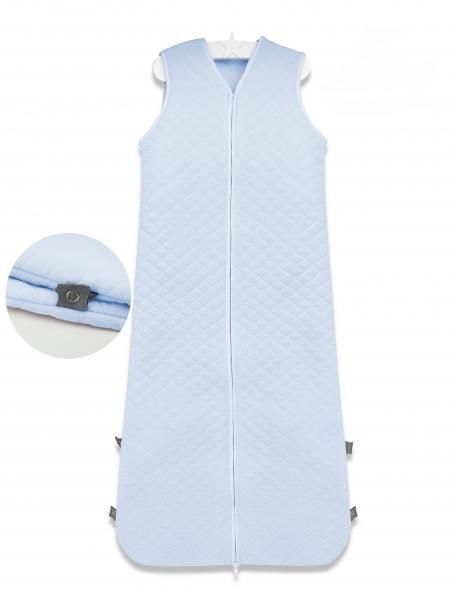 Baby Nellys Spací vak Velvet prešívaný (85 - 106 cm) - modrý