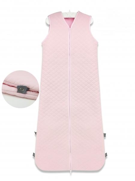 Baby Nellys Spací vak Velvet prešívaný (85 - 106 cm) - růžový