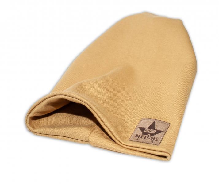 Baby Nellys Hand Made Jarná/jesenná bavlnená čiapka - dvojvrstvová, tm. růžová