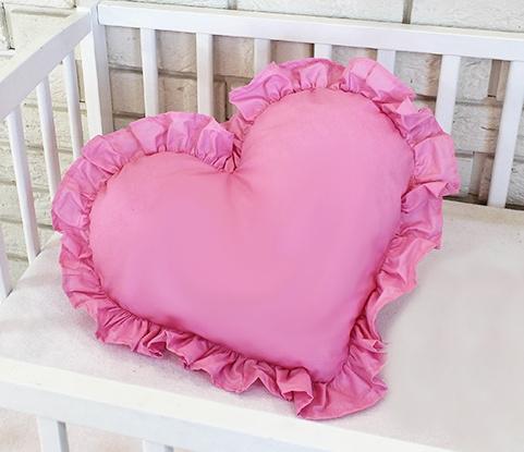 Baby Nellys Dekoračné obojstranný vankúšik - Srdce, 45 x 40 cm - rúžové