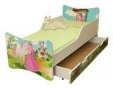 NELLYS Detská posteľ so zábranou a šuplík/y Princezná, 160x90 cm